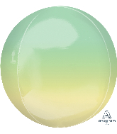 "16"" Foil Balloon Ombre Orbz Yellow and Green"