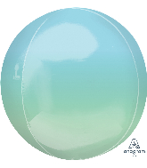"16"" Foil Balloon Ombre Orbz Blue and Green"