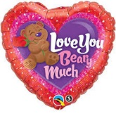 "18"" Love You Beary Much Balloon"