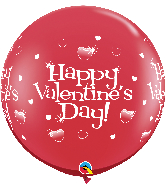 "36"" Happy Valentines Day Ruby Red (2 Count)"