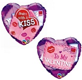 "18"" Valentine Sealed with a Kiss Balloon"