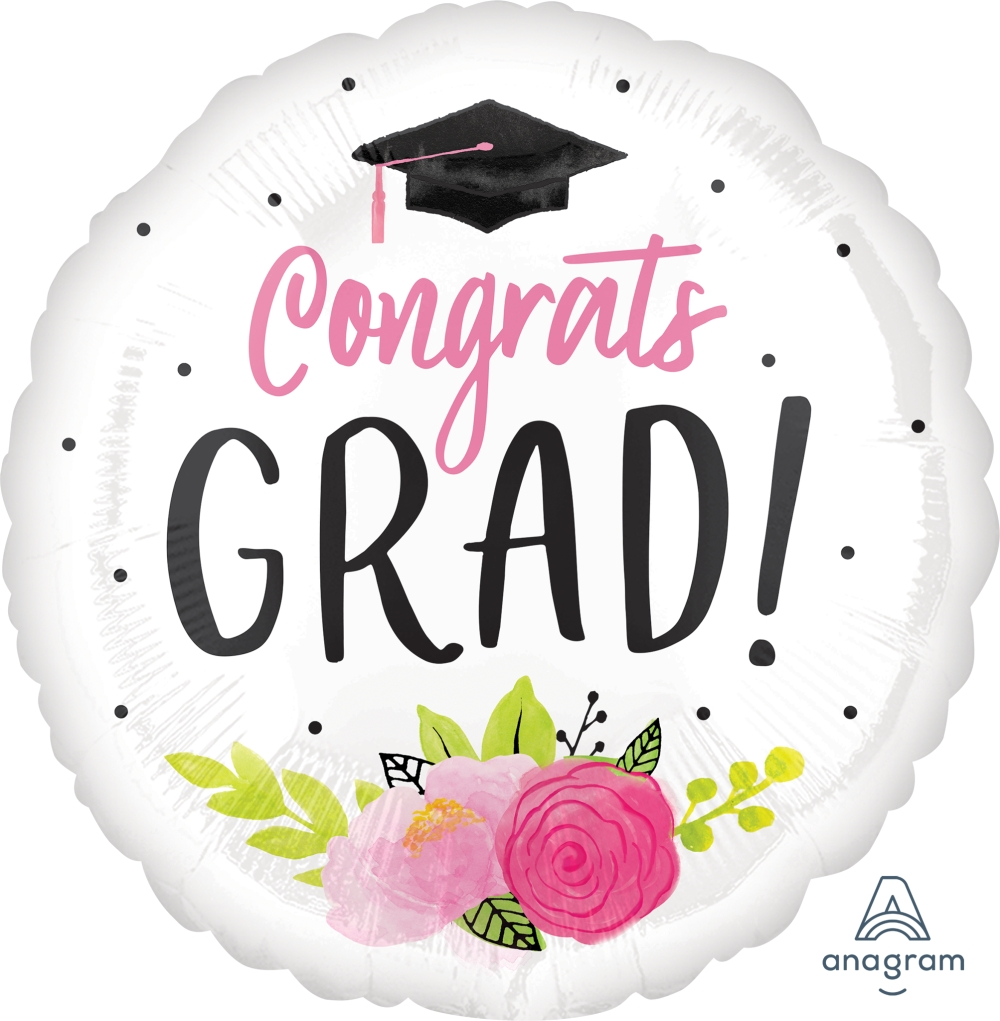 "28"" Girl Grad Foil Balloon"