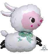 "28"" Lamby SuperShape Foil Balloon"