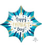 "35"" Happy Father's Day Painted Stripes Foil Balloon"