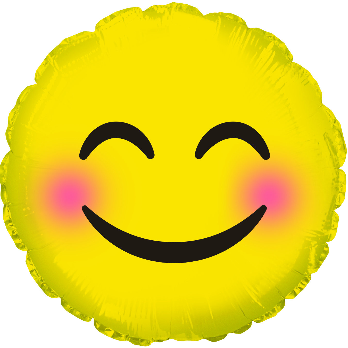 "17"" Emoticon Smile Blushing Cheeks Balloon"
