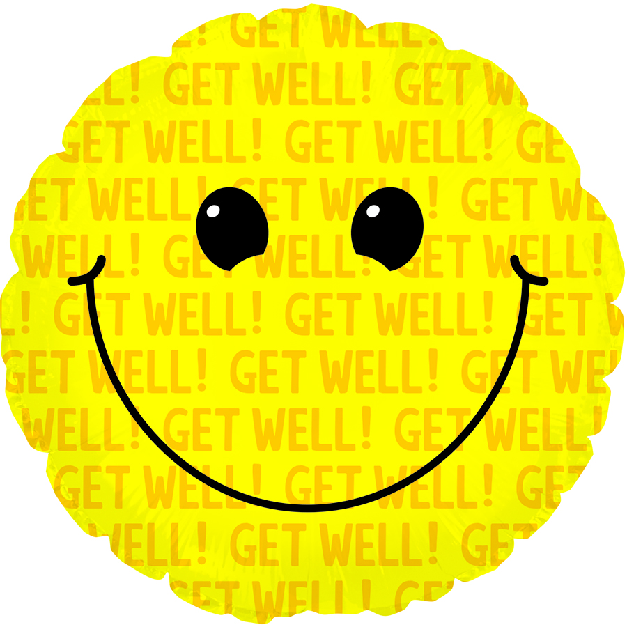 "17"" Smiley Get Well"