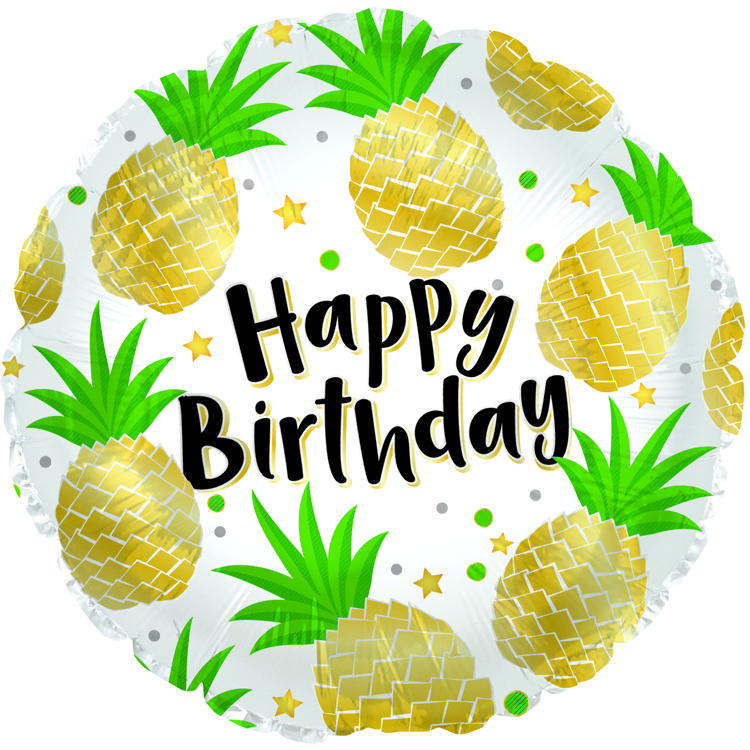 "18"" Birthday Pineapples Foil Balloon"