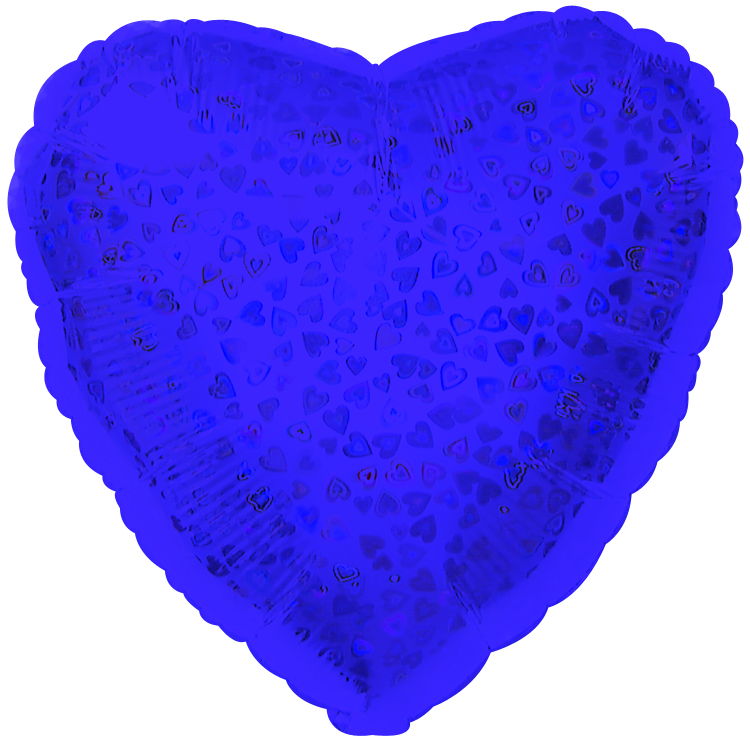 "18"" Purple Heart Pattern Dazzleloon"