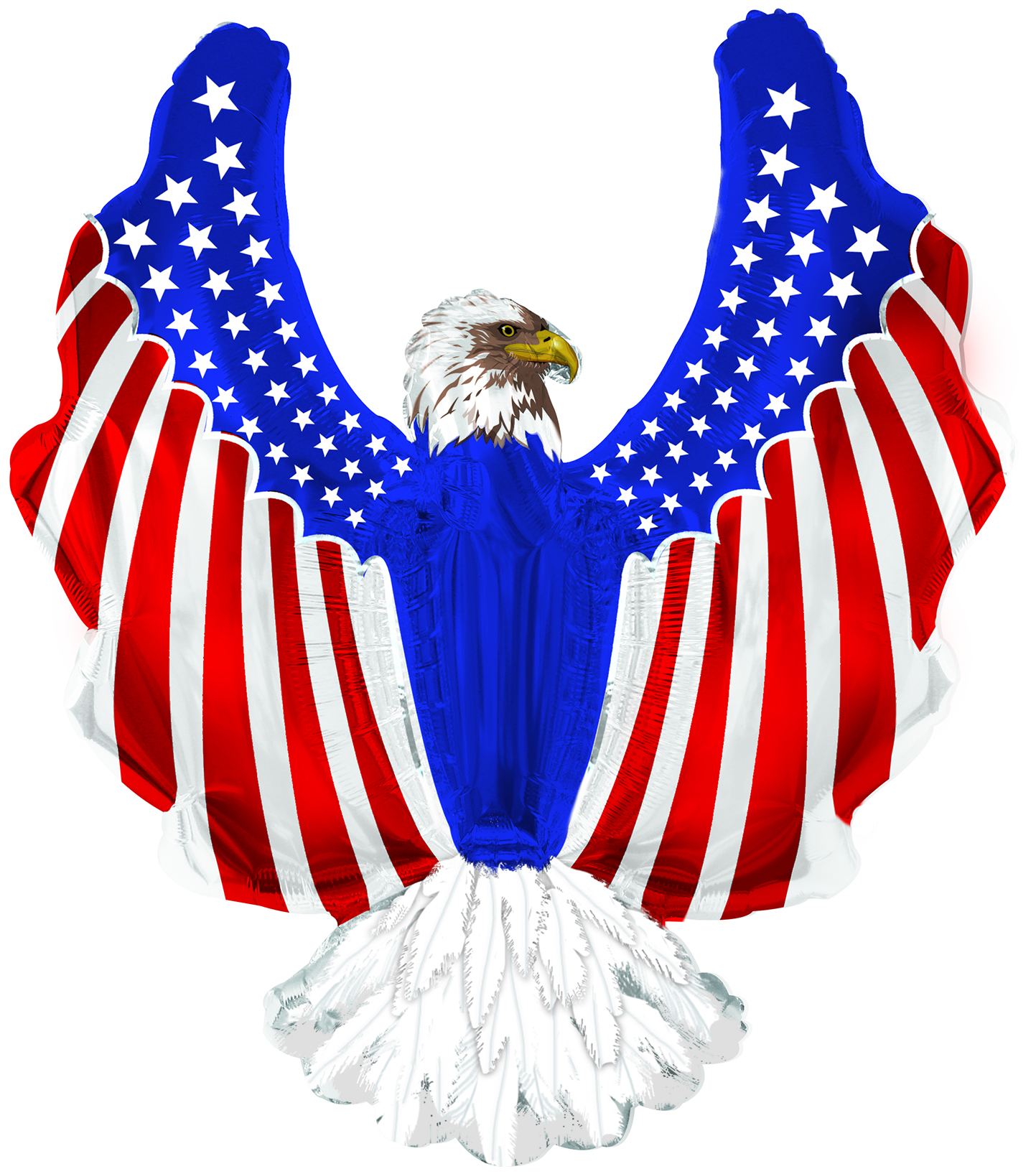 "36"" X 34"" Patriotic Eagle Shape-A-Loon Balloon"
