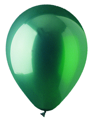 "12"" Crystal Emer Green Latex (100 Per Bag)"