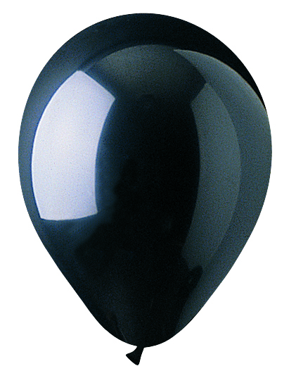 "5"" Crystal Black Latex 100 Per Bag"