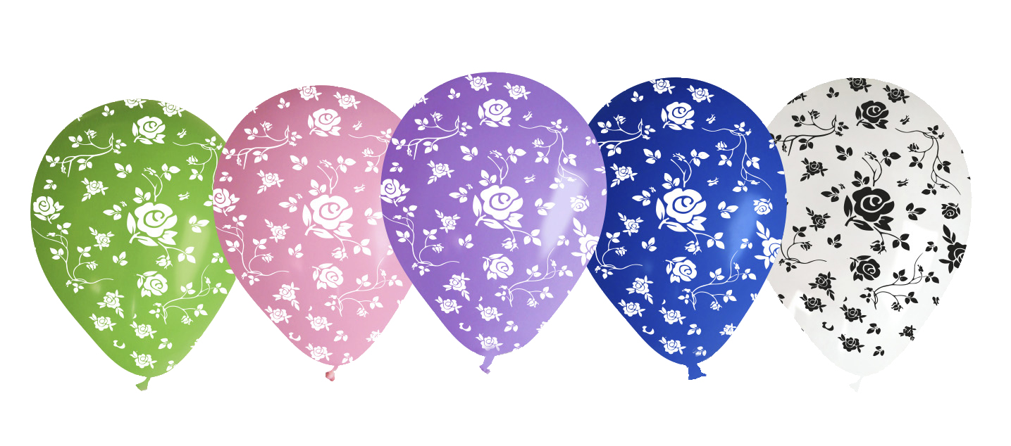 "12"" Rose Assorted Latex Balloons (50 Per Bag)"