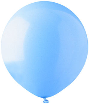 "17""  Standard Light Blue Latex 72 Count"