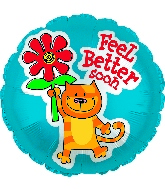 "17"" Feel Better Soon Kitty Balloon"