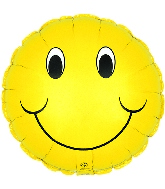 "18"" Smiley Two Sided Smiley Face Balloon"