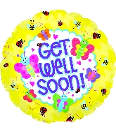 "18"" Get Well Soon Bugs Foil Balloon"