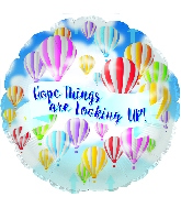 "18"" Hope Looking Up! Foil Balloon"