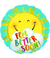 "18"" Feel Better Sun Foil Balloon"