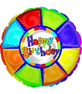 18'' Happy Birthday Colorful Pieces