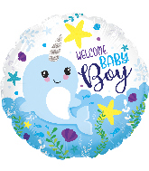 "18"" Baby Boy Narwhal Foil Balloon"