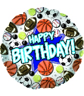 "18 "" Happy Birthday Sports CTI"