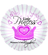 "17"" Welcome Little Princess Foil Balloon"