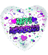 "17"" Happy Anniversary Foil Balloon"