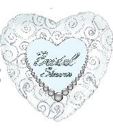"18"" Bridal Shower Pearls Wishes"
