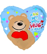 "9"" Airfill Get Well Hug for you Balloon"
