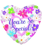 "9"" Airfill Only You&#39re So Special Flowers Balloon"