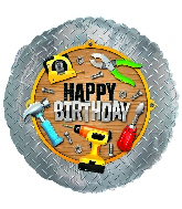 "18"" Happy Birthday Handyman Balloon"
