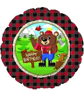 "18"" Happy Birthday Lum-Bear Jack Balloon"