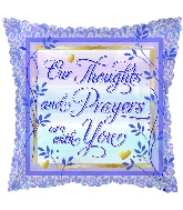"18"" Thoughts & Prayers Foil Balloon"