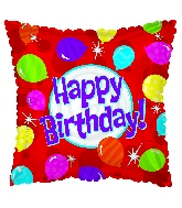 "17"" Happy Birthday Day Bright Balloons Balloon"