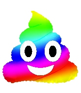 "9"" Airfill Only Emoticon Rainbow Poop Balloon"
