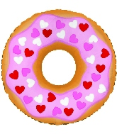 "10.5"" Heart Donut Balloon"