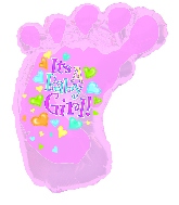 12'' Airfill Baby Girl Foot M116