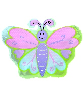 "12"" Airfill Butterfly Shape Balloon"