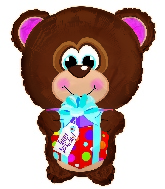 "22"" Happy Birthday Day Bear Shape Balloon"
