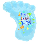 "30"" It&#39s a Baby Boy Foot"