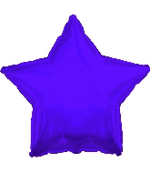 "17"" CTI Solid Purple Star Balloon"