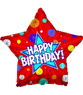 "17"" Happy Birthday Day Dynamic Star Balloon"