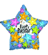 "18 "" Star Shaped Birthday Happy Stars"
