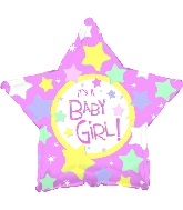 "18"" It's a Baby Girl Many Stars"