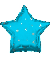 "18"" Blue Sparkle Star Foil Balloon"