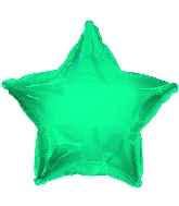 "9"" Airfill Only Teal Star Foil Balloon"