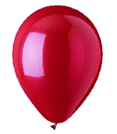 "9"" Standard Red Latex (100 Per Bag)"