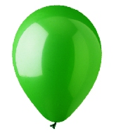 "9"" Standard Green Latex (100 Per Bag)"