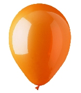 "9"" Standard Orange Latex (100 Per Bag)"