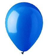 "9"" Standard Mid Blue Latex (100 Per Bag)"